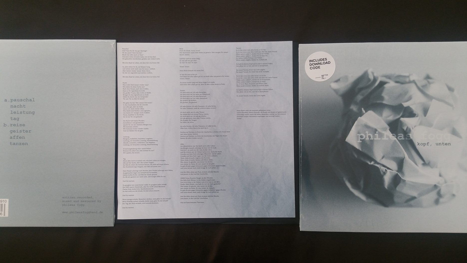 review: PHILEAS FOGG – kopf, unten LP