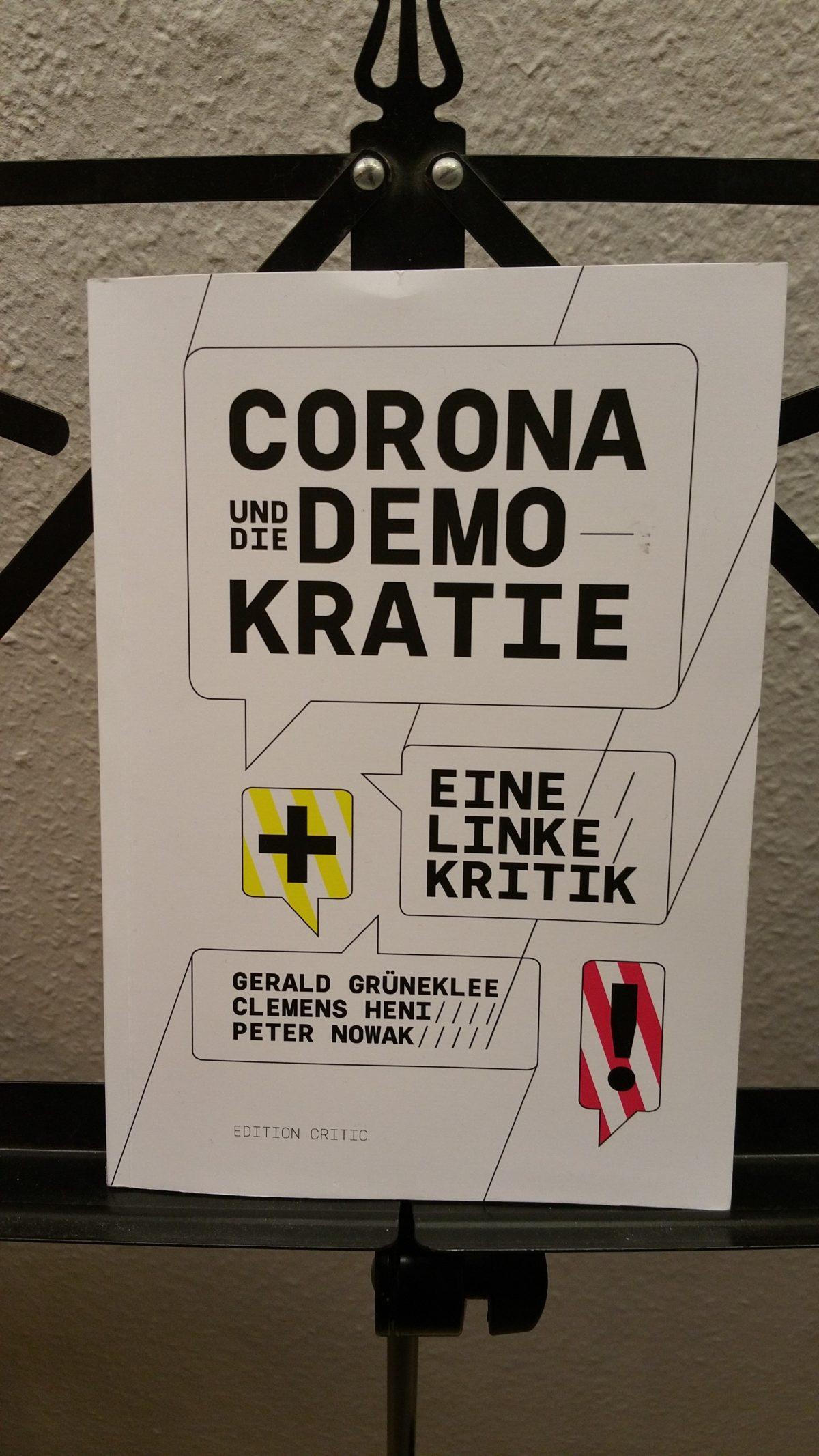 buch: CORONA und die DEMOKRATIE (eine linke Kritik)