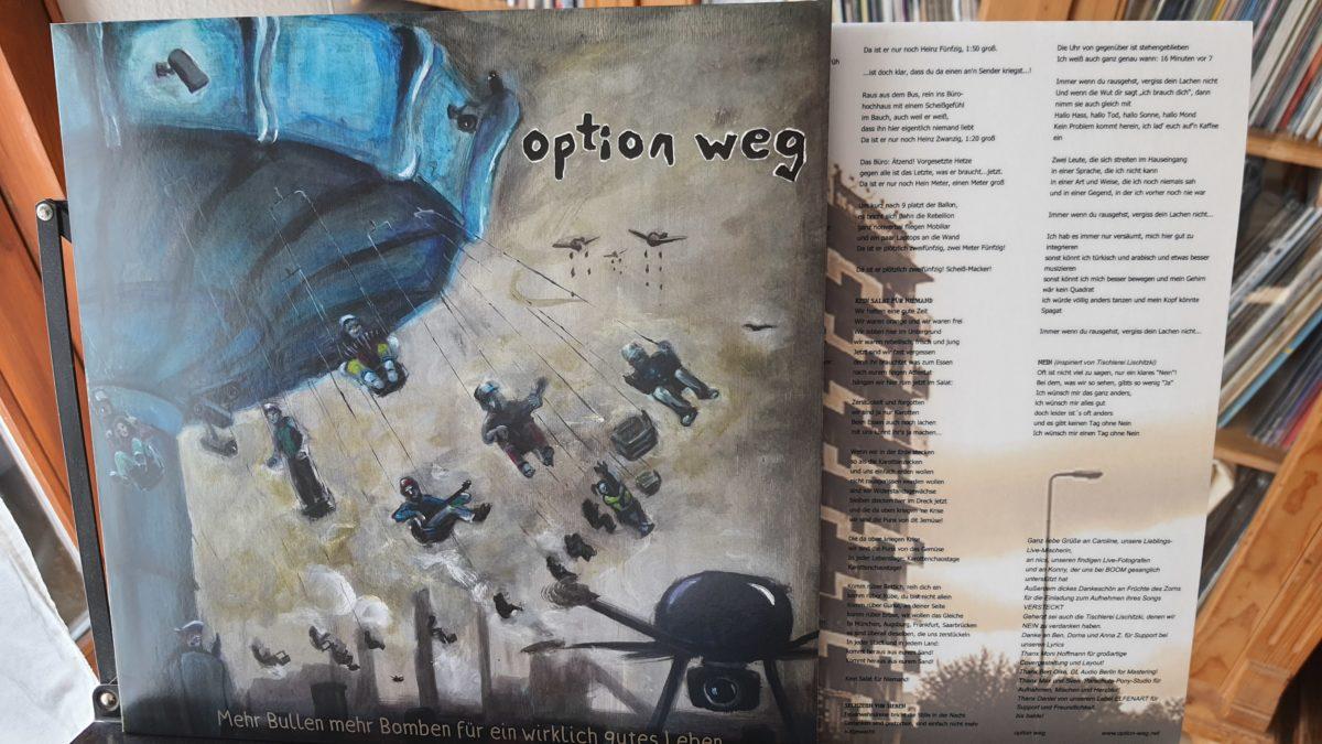 review: OPTION WEG – mehr bullen mehr bomben für ein wirklich gutes leben LP