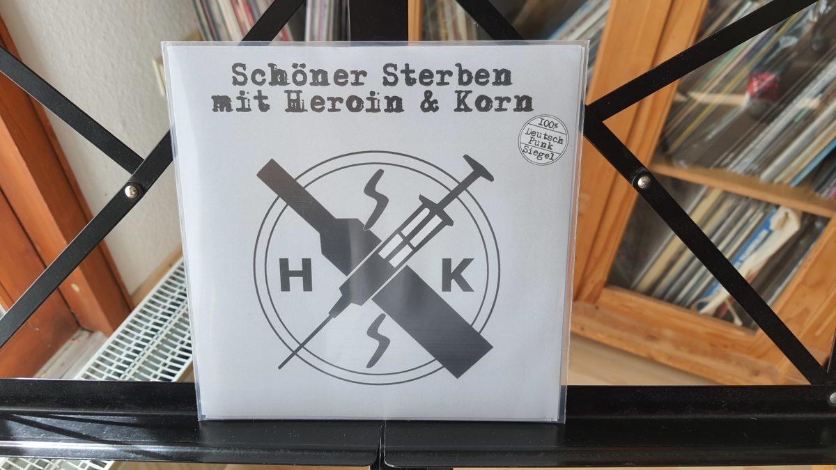 review: SCHÖNER STERBEN mit Heroin & Korn s/t 7inch